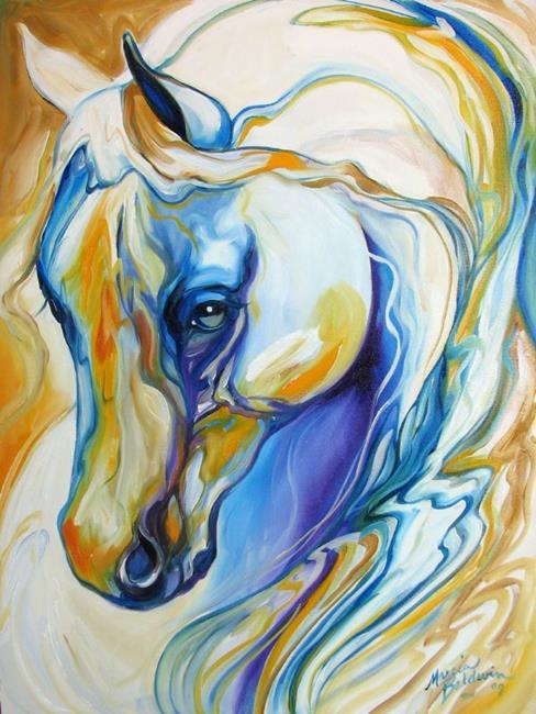 Art: ARABIAN ABSTRACT by M BALDWIN by Artist Marcia Baldwin