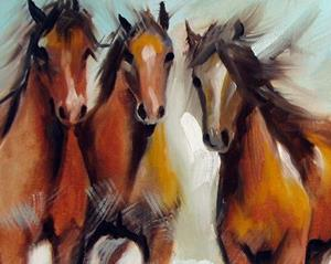 Detail Image for art OCEAN BREEZE WILD HORSES