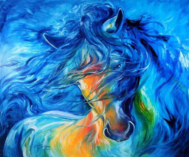 Art: LIKE the WIND FRIESIAN ~ HORSE ART by MARCIA BALDWIN by Artist Marcia Baldwin