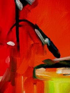 Detail Image for art MUSIC in RED ~ Drum Abstract