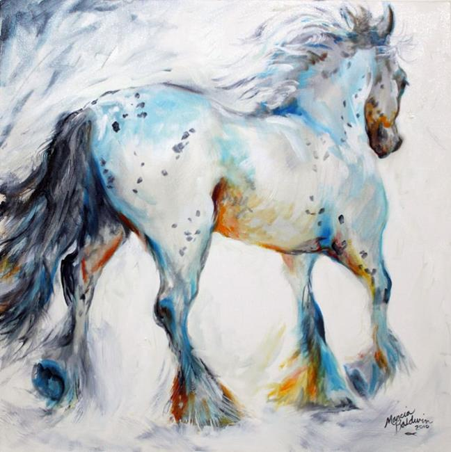 Art: GYPSY VANNER MOTION SKETCH IN OILS by Artist Marcia Baldwin