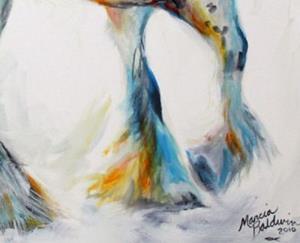 Detail Image for art GYPSY VANNER MOTION SKETCH IN OILS