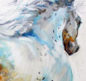 Detail Image for art GYPSY VANNER MOTION SKETCH IN OILS