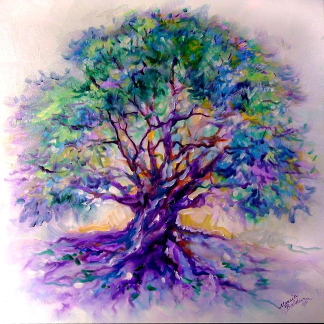 Art: TREE OF LIFE~PurpleRain by Artist Marcia Baldwin