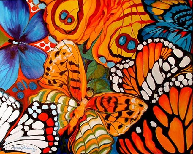 Art: BUTTERFLY ABSTRACT II by Artist Marcia Baldwin