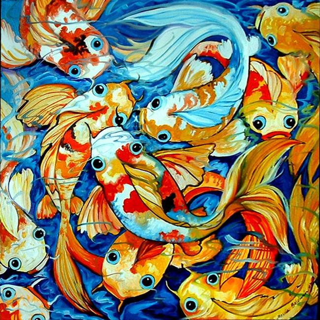 Art: TEN KOI FUN by Artist Marcia Baldwin