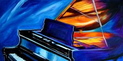 Art: JAZZ PIANO by Artist Marcia Baldwin