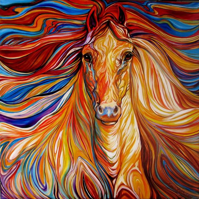 The powerful an equine abstract horses of the southwest for Abstract animal paintings
