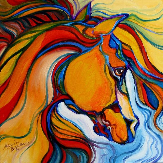 southwest abstract horse by marcia baldwin from abstracts