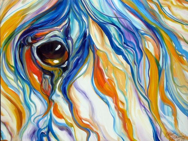 Art: EQUINE EYE of TRUST by Artist Marcia Baldwin
