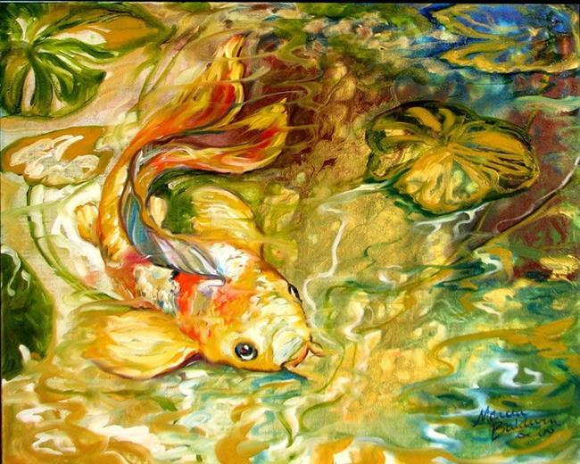 Art: GOLDEN KOI ABSTRACT by Artist Marcia Baldwin