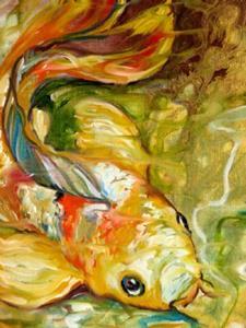 Detail Image for art GOLDEN KOI ABSTRACT