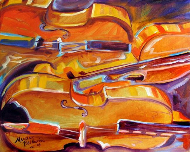 music violin abstract by marcia baldwin from abstracts