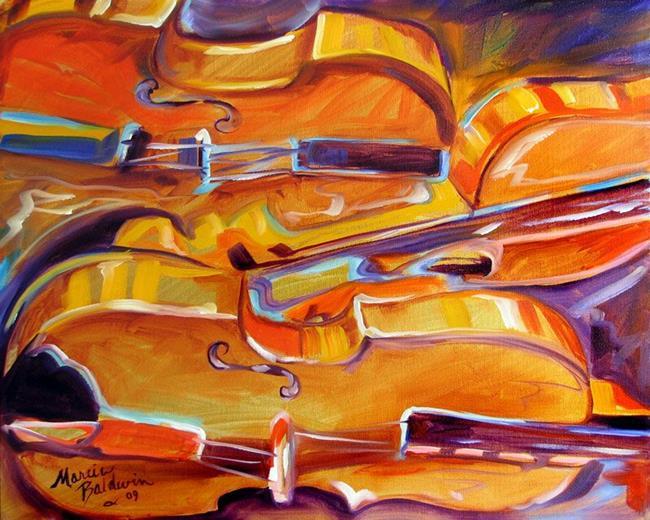 Art: MUSIC VIOLIN ABSTRACT by Artist Marcia Baldwin