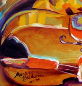 Detail Image for art MUSIC VIOLIN ABSTRACT