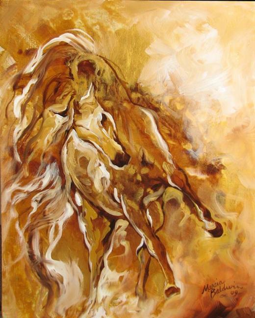 Art: GOLDEN STORM EQUINE by Artist Marcia Baldwin