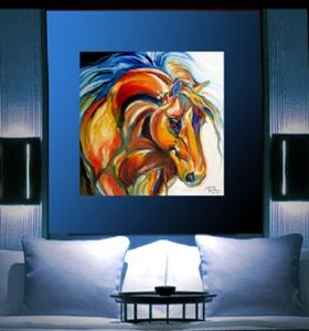 Detail Image for art ABSTRACT BAY STALLION by M BALDWIN