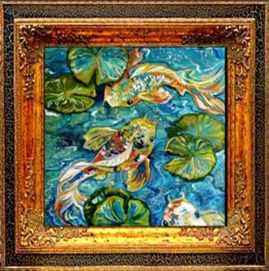 Detail Image for art BLUE LAGOON KOI 3