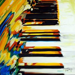Art: JAZZ PIANO ABSTRACT by Artist Marcia Baldwin