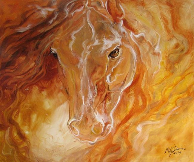 Art: GOLDEN ESSENCE EQUINE by Artist Marcia Baldwin