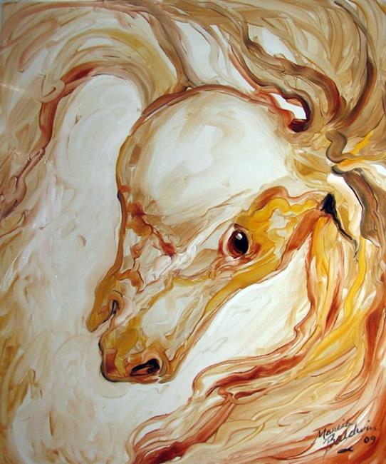 Art: EQUUS GOLD ABSTRACT by Artist Marcia Baldwin