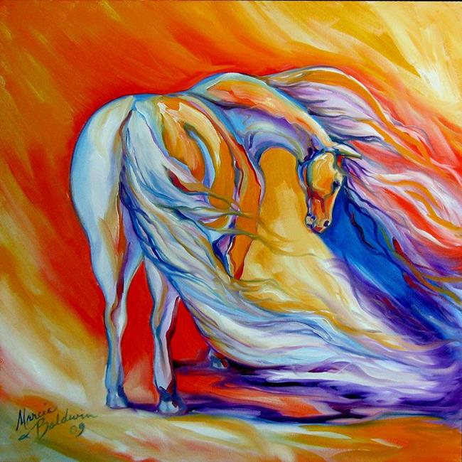 Art: AGAINST THE WIND EQUINE by Artist Marcia Baldwin