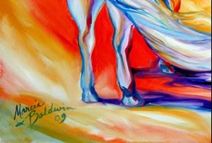Detail Image for art AGAINST THE WIND EQUINE