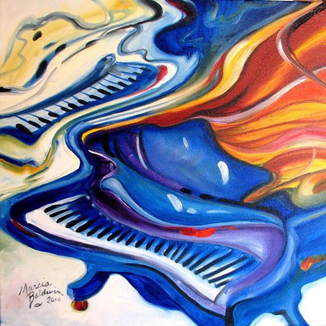 Art: JAZZ PIANOS GRAND by Artist Marcia Baldwin