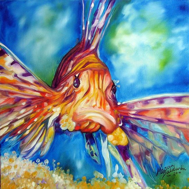 Lion fish ii by marcia baldwin from abstracts for Paintings of fish