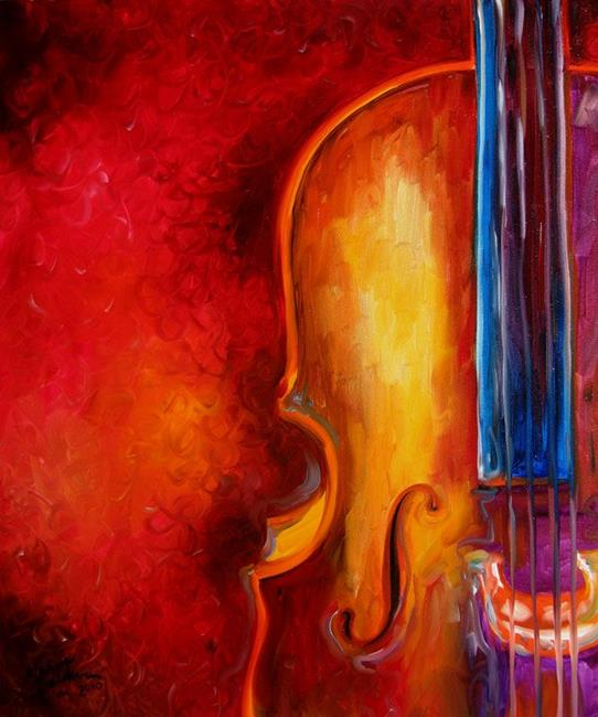 CELLO ABSTRACT 2420 - by Marcia Baldwin from Abstracts
