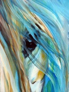 Detail Image for art BLUE MYSTIC SKY EQUINE ABSTRACT