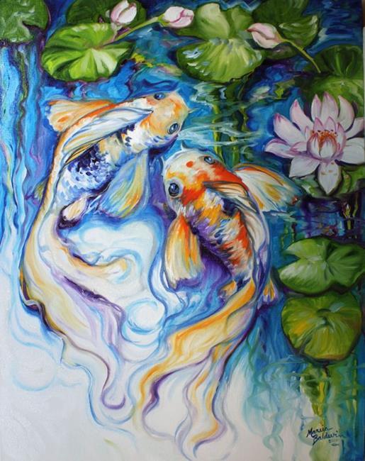 Art: KOI KOI & LILY by Artist Marcia Baldwin