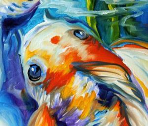 Detail Image for art KOI KOI & LILY