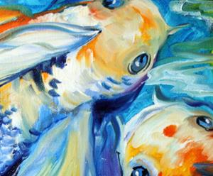 Detail Image for art KOI KOI & LILY
