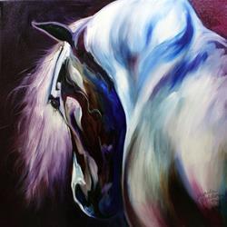 Art: SILVER STALLION by Artist Marcia Baldwin