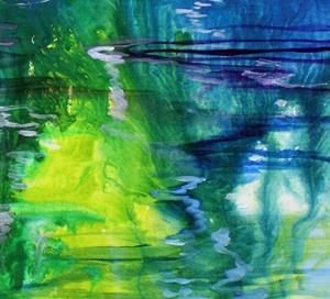 Detail Image for art LAKE ABSTRACT LANDSCAPE