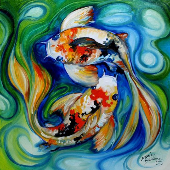Art: YINGYANG KOI by Artist Marcia Baldwin