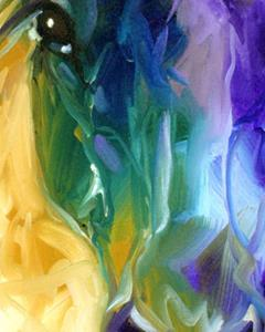 Detail Image for art ABSTRACT BLUE ROAN