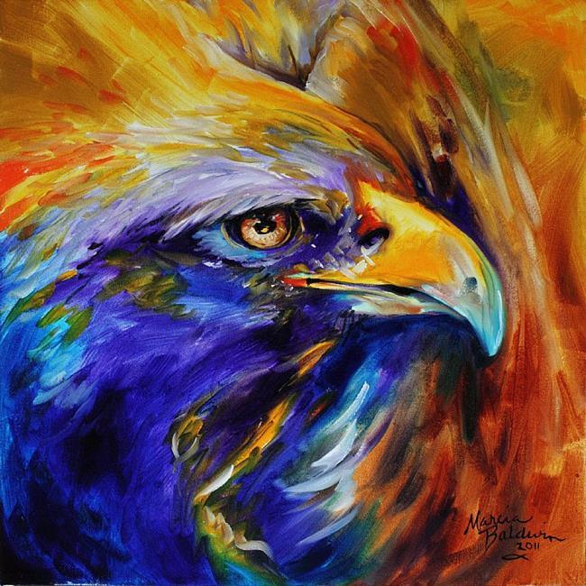 Art: GOLDEN EAGLE ABSTRACT by Artist Marcia Baldwin