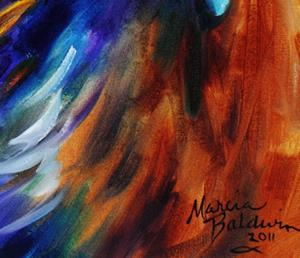Detail Image for art GOLDEN EAGLE ABSTRACT