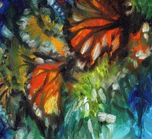 Detail Image for art MONARCH BUTTERFLY ABSTRACT