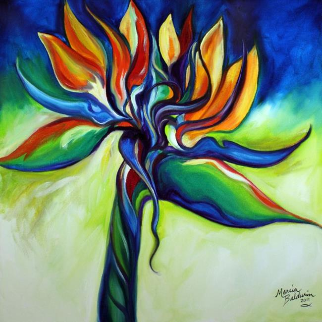 Art: BIRD OF PARADISE REVISITED by Artist Marcia Baldwin