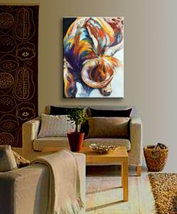 Detail Image for art LONGHORN ABSTRACT