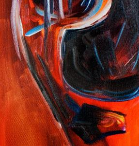Detail Image for art READY to ROCK GUITAR ABSTRACT