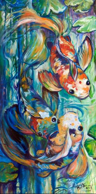 Art: KOI 3 SWISH by Artist Marcia Baldwin