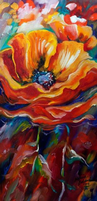 Art: WILD POPPY ABSTRACT by Artist Marcia Baldwin