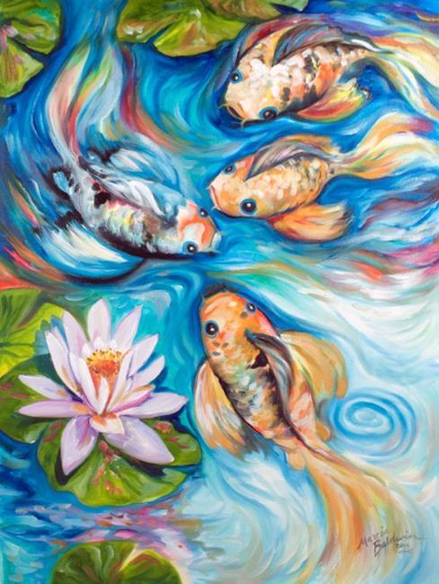 Art: DANCING KOI 2418 by Artist Marcia Baldwin