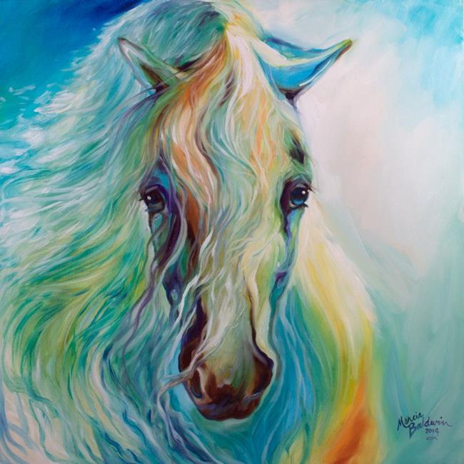 Art: BLUE DREAMER EQUUS by Artist Marcia Baldwin