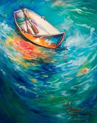 Art: WAITING on the CALM by Artist Marcia Baldwin