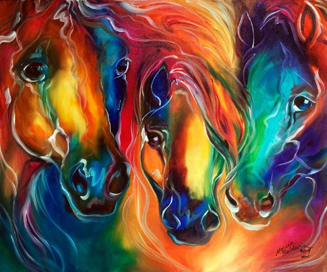 Art: COLOR my world with HORSES by Artist Marcia Baldwin